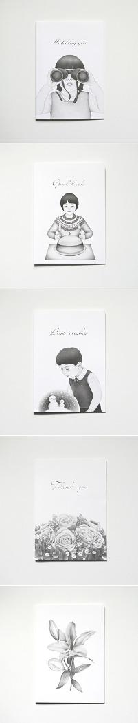 아임오케이 무채색 카드
