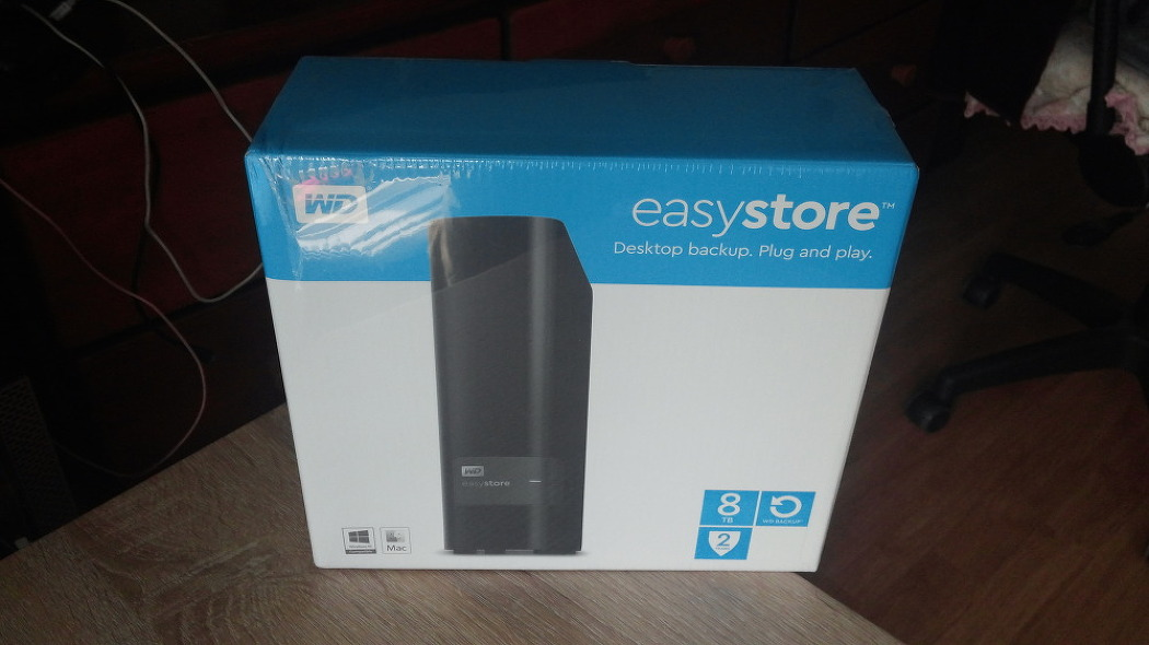 WestonDigital EasyStore External 8TB HDD  구입