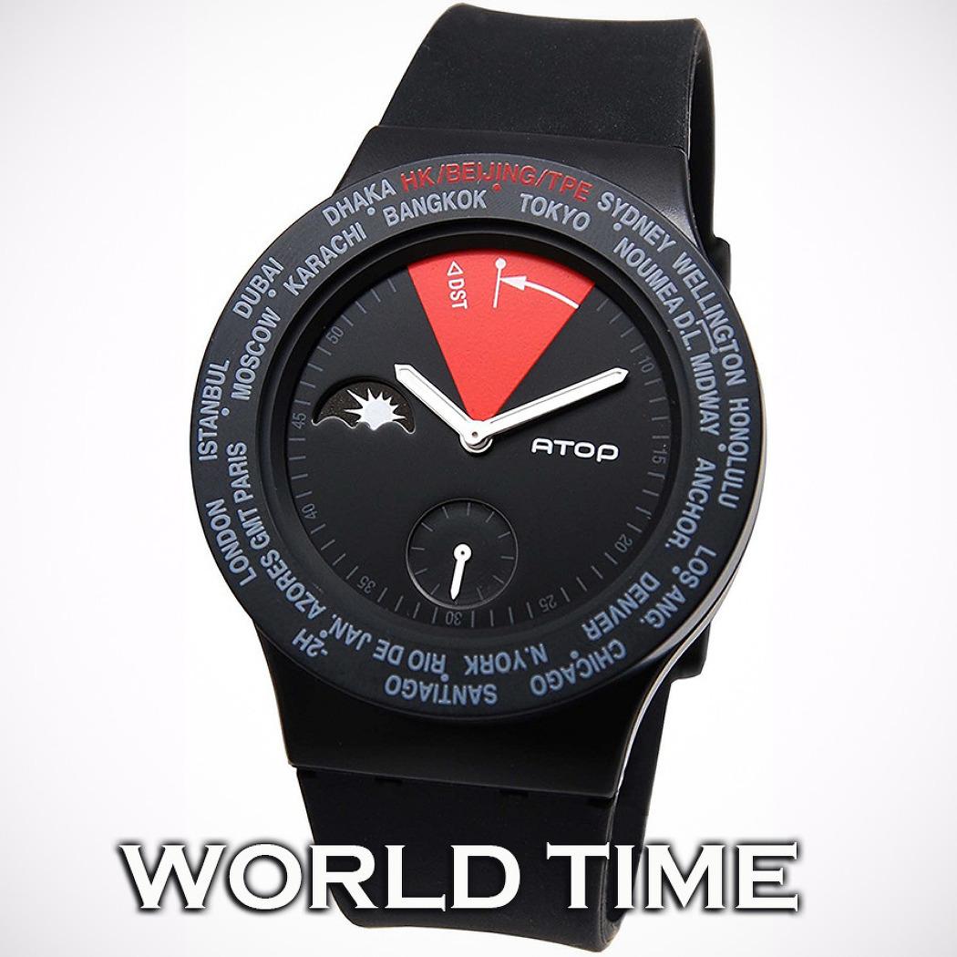 세계여행자의 필수품 월드타임 손목시계   AT..
