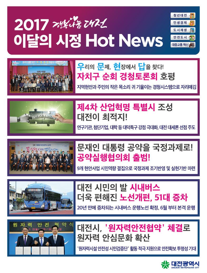 2017.5월 5주차 대전시정 핫뉴스(4차 산업혁명 특별시,..