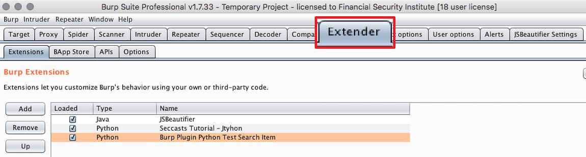 [Burp] Extender - burp Extender 기능 활용