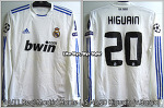 10/11 Real Madrid Home No.20 Higuain UCL Semi-Final Match Worn (Vs. Barcelona 03 May 2011)
