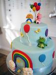 조카의 첫돌을 위해 만든 뽀로로와 친구들 케이크