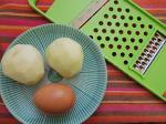 [대충하는요리]다용도 감자칼로 구운감자&계란후라이(feat.체다치즈)를 만들어 먹은 후기(리뷰)