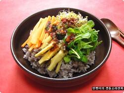 전복요리법2. 된장찌개와 찰떡궁합! 풋풋한 건강별식~ 전복새싹비빔밥