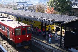 유후인 역 주변 거리와 버스터미널 일본 후쿠오카 여행
