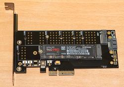 M.2 NVME PCIe 4배속 카드 M.2 SATA 변환까지 가능한 카드