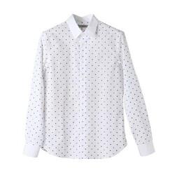 티아이포맨 플라워 도트패턴 화이트셔츠
