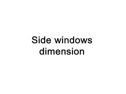 duck-side windows dimension