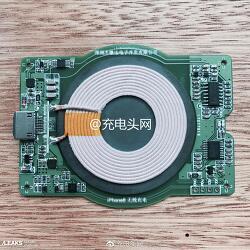 애플 - 아이폰8용 Qi 무선충전 코일 부품 유출