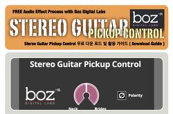 무료 플러그인 : Boz Digital Labs - Stereo Guitar Pickup Control