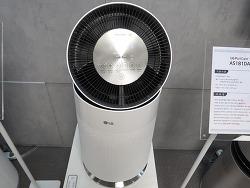 LG 퓨리케어 360 공기청정기 360도로 먼지를 담고 멀리 깨끗한 공기를