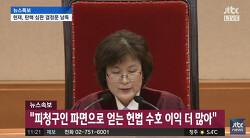 박근혜,헌재 재판관 8인 만장일치 파편