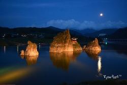 단양여행] 단양팔경중 석문과 야경이 아름다운 도담삼봉