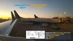 [171211] 애틀란타 - 인디애나폴리스 (ATL-IND), 델타항공 (DL2196), B737-900ER 탑승기