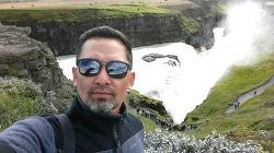 아이슬란드를 대표하는 굴포스 폭포