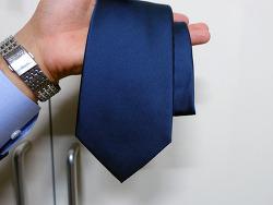 프루이(Frui)_기본적인 네이비 타이(Twill Fabric Silk Solid_Navyblue)