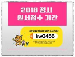 2018 정시 원서접수 기간 - New
