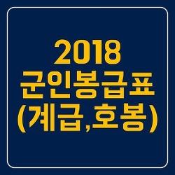 2018군인 봉급표(군인장교 월급)