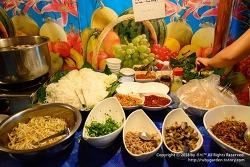 태국 치앙라이 여행 / 골든트라이앵글 원데이 투어 / 투어 뷔페 식당 풍경