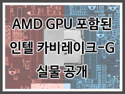 AMD GPU 포함된 인텔 카비 레이크-G 실물 공개