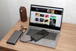 위키오 CRB003 20V 20800mAh 대용량 노트북 보조배터리