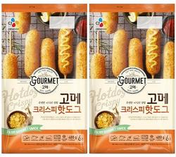 [상품정보] 아이들 간식으로 적당한 CJ제일제당 고메 크리스피 핫도그