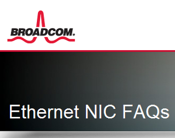 BROADCOM Gigabit 1000Mbit FULL 설정관련 FAQ