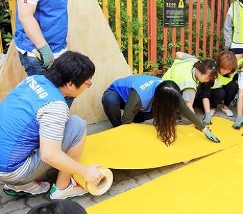 보행자의 안전을 지키는 '옐로카펫' 설치 현장!