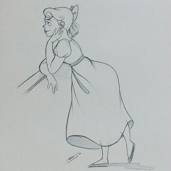 연필스케치-피터팬 웬디(2017.07.18)