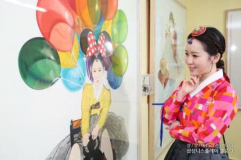 한복 입은 '차도녀'의 유쾌한 내숭, 한국화가 김현정을 만나다!