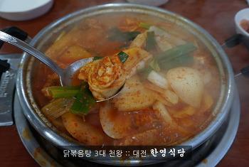 대전 한영식당의 닭볶음탕! 먼길 오길 잘했네~