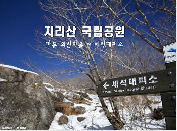 [지리산 등산코스] 겨울 눈꽃 산행 (경남 하동 의신마을 ~ 세석대피소)