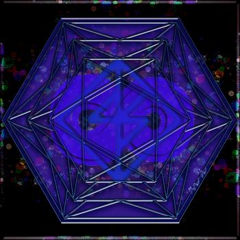 무한행운(Good Luck)의 바인드룬 (bind rune) 만다라(Mandala) 문양 31d