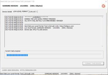 하드에 배드섹터나 crc에러 오류가 있다면 로우레벨포맷을 하세요. hard disk low level format tool  볼륨삭제후 로우포맷