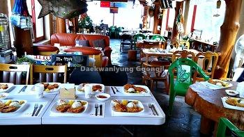 천마중학교 수학여행 카페고등어에서 수제돈가스로 점심을