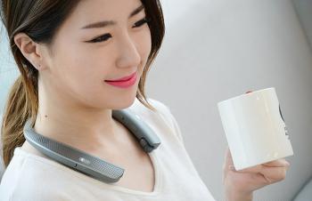 외부 스피커 갖춘 LG 톤 플러스 스튜디오(HBS-W120) 넥밴드 형 블루투스 이어폰