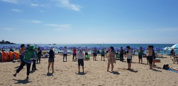 송국클럽하우스는 2018년 7월 31일 송정으로 하계해수욕을 갔다왔습니다.