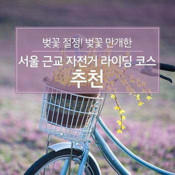 벚꽃 절정! 벚꽃 만개한 서울근교 자전거 라이딩 코스 추천