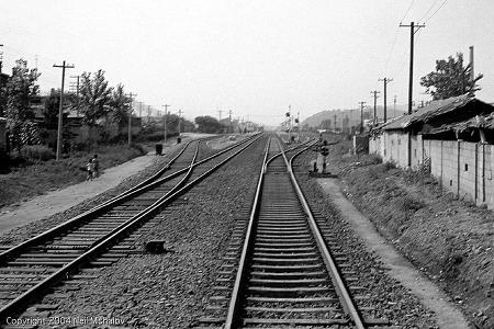 1969년 안양역 진입 경부선 철길