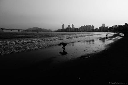 늦가을, 바닷가