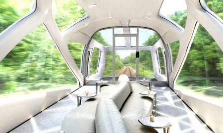 일본 JR동일본의 럭셔리 기차 디자인