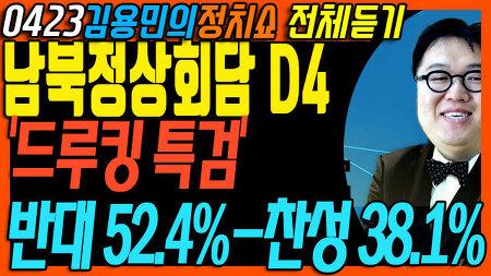 김용민의 정치쇼(전체, 04월 23일) 드루킹 특검 여론조사 반대 나오자 이것도 매크로 조사해보라?/ 카운트다운 시작된 남북정상회담! 등