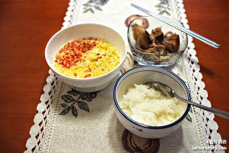 위 아플때 먹기 좋은 음식, 양배추밥과 계란찜