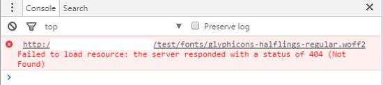 [Bootstrap 3] 부트스트랩 폰트 에러(404 not found)
