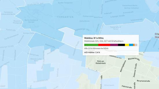 베를린 블록: 도시개발과 정치 그리고 투표