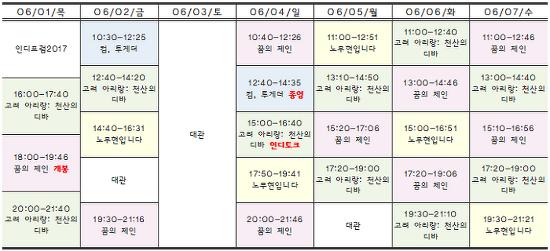 [06.01-06.07 상영시간표] 꿈의 제인 / 고려 아리랑: 천산의 디바 / 노무현입니다 / 컴, 투게더