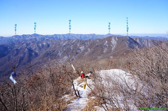 백두대간 14구간 : 우두령 ~ 석교산 화주봉 ~ 1,172m 암봉 ~ 삼마골재 ~ 물한계곡주차장
