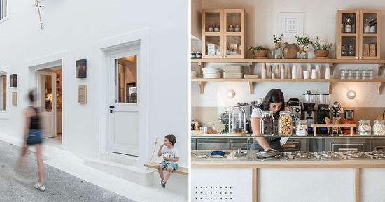 *그리스 카페 리모델링 An 1860s Building Was Transformed Into A Contemporary Cafe In Greece