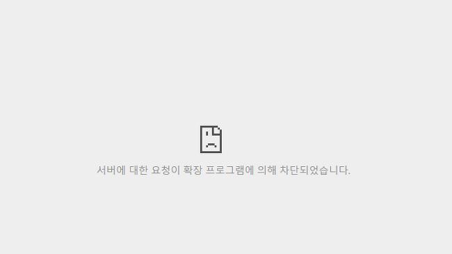 서버에 대한 요청이 확장 프로그램에 의해 차단..